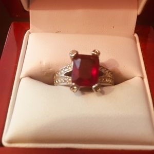 New Engagement Ring With Red Crystal